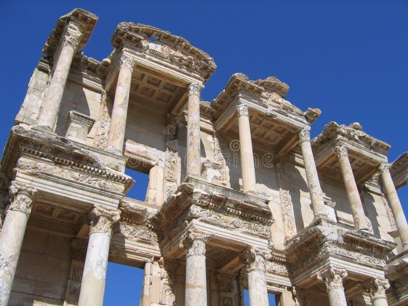 Libreria antica - Ephesus fotografie stock libere da diritti