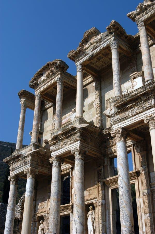 Libreria centigrado antica in Efes fotografia stock libera da diritti