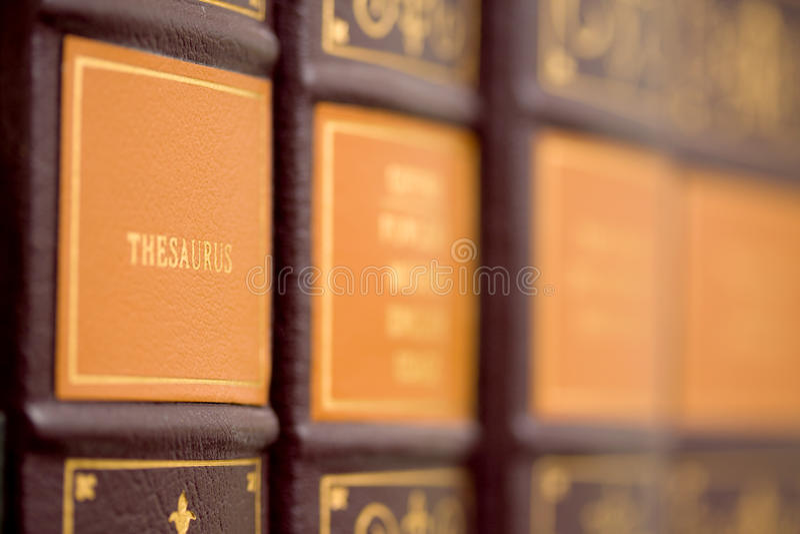 Libreria di riferimento immagini stock