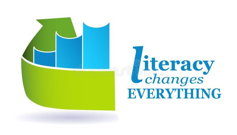 Libreria di saper leggere e scrivere illustrazione di stock
