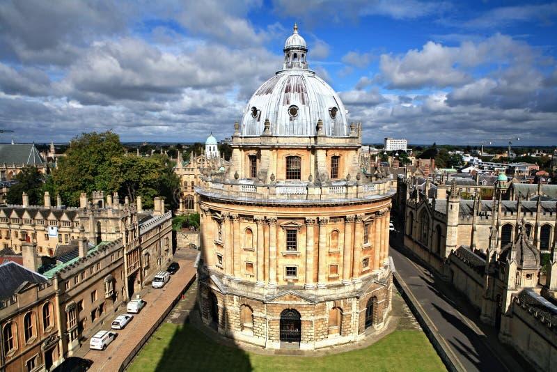 Libreria e guglie di Oxford immagine stock libera da diritti