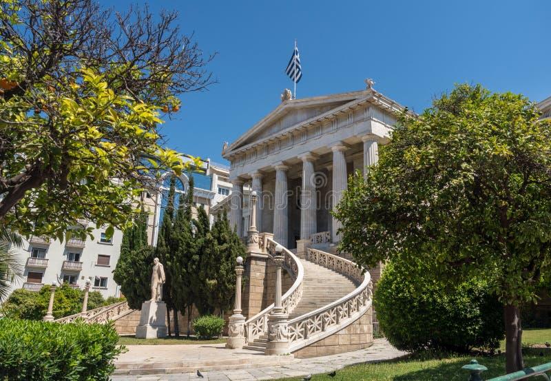 Libreria nazionale della Grecia a Atene immagini stock