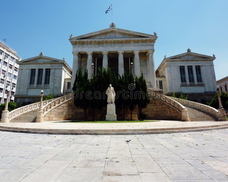 Libreria nazionale della Grecia, o libreria di Gennadeios immagine stock libera da diritti