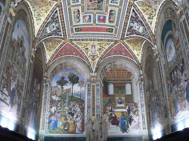 Libreria Piccolomini, Siena (Italia) imágenes de archivo libres de regalías