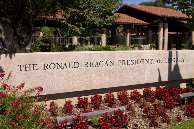 Libreria presidenziale del Ronald Reagan immagini stock libere da diritti