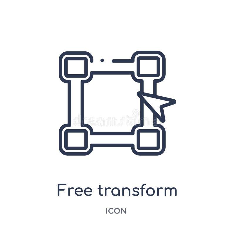 Libres linéaires transforment l'icône de éditent la collection d'ensemble d'outils La ligne mince libre transforment l'icône d'is illustration stock