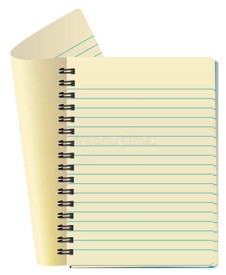 Libreta abierta ilustración del vector