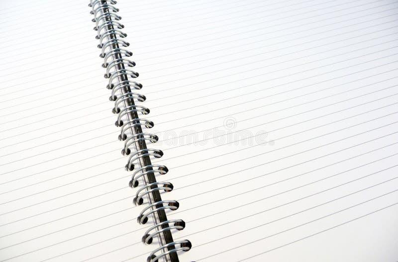 Libreta alineada blanca fotografía de archivo