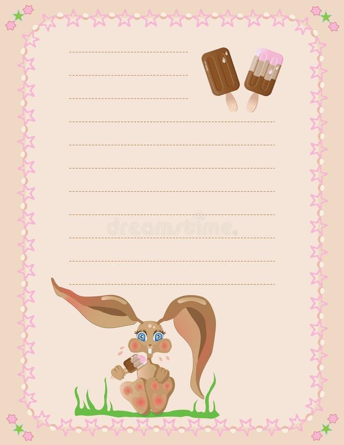 Libreta del conejito y de los popsicles libre illustration