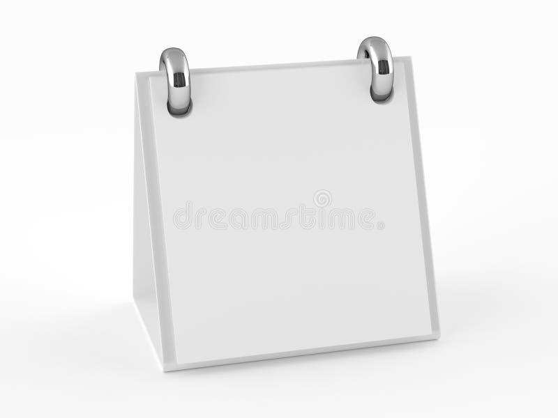 libreta del espacio en blanco 3D ilustración del vector