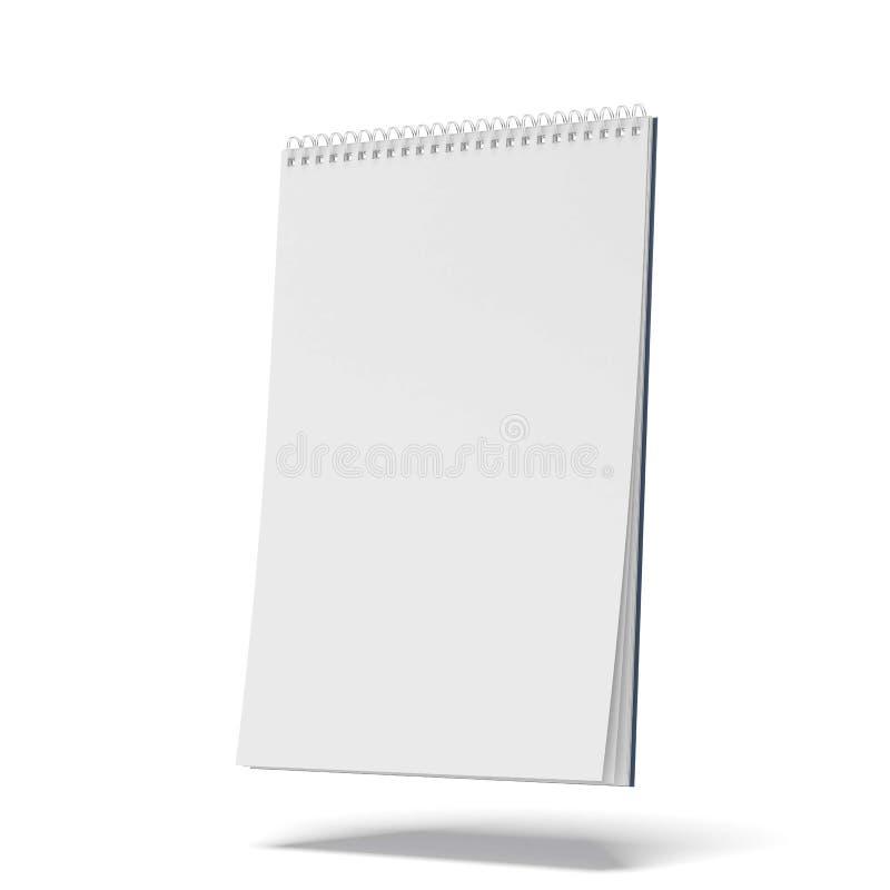Libreta espiral en blanco ilustración del vector