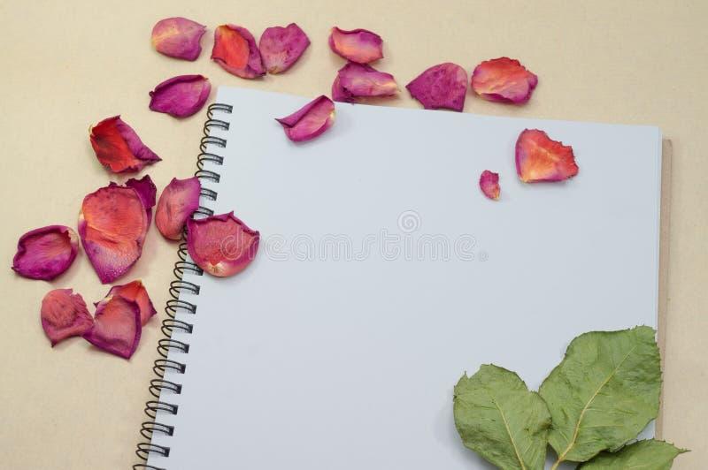 Libreta negra Cuaderno realista de la plantilla Diseño de la cubierta en blanco imagen de archivo