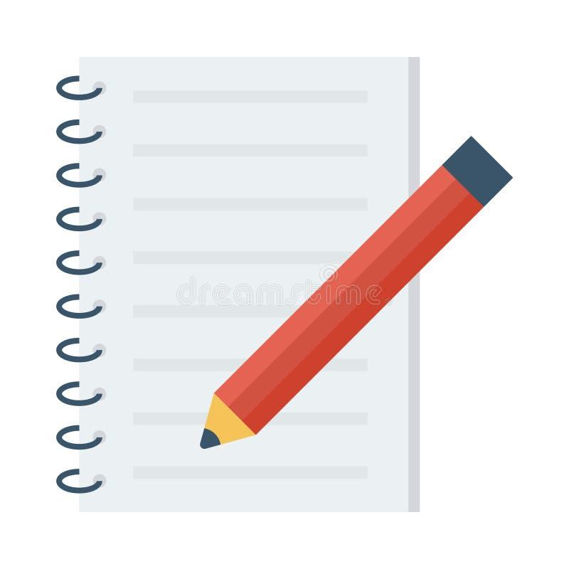 Libreta Pen Icon ilustración del vector