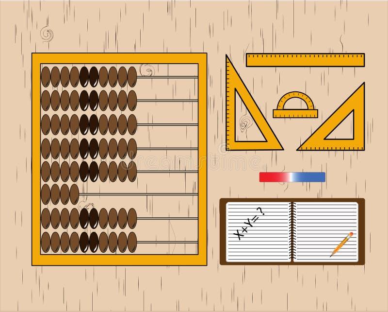Libreta y lápiz, oficina, negocio stock de ilustración