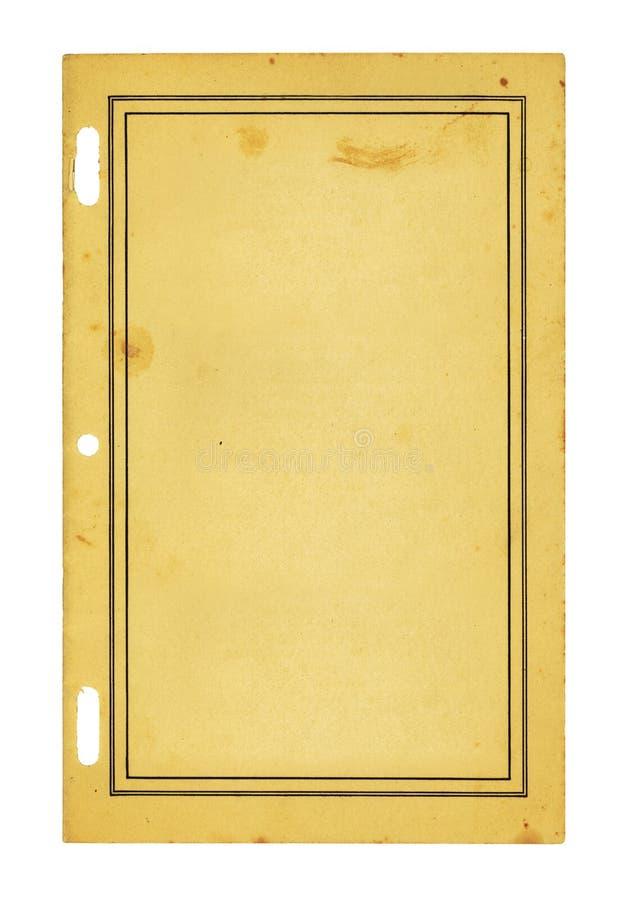Libretto dell'annata fotografie stock