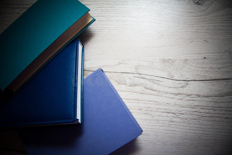 Libri blu della copertura fotografia stock libera da diritti