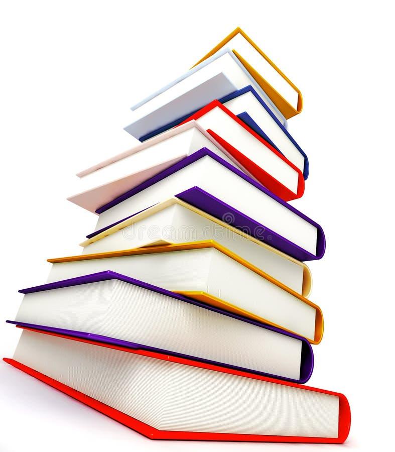 Libri colorati su bianco illustrazione di stock
