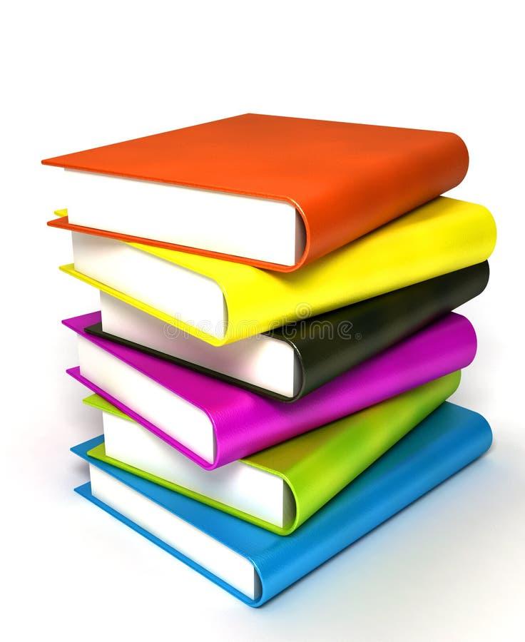 Libri colorati voluminosi illustrazione vettoriale