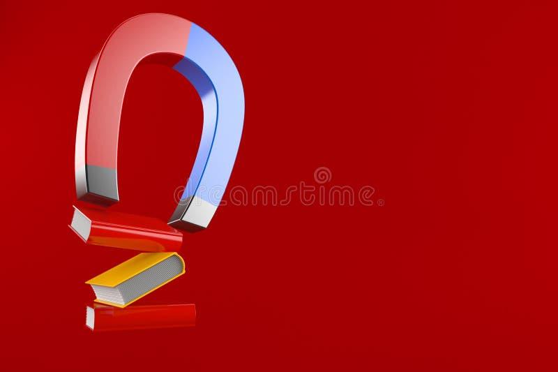 Libri con il magnete a ferro di cavallo illustrazione vettoriale