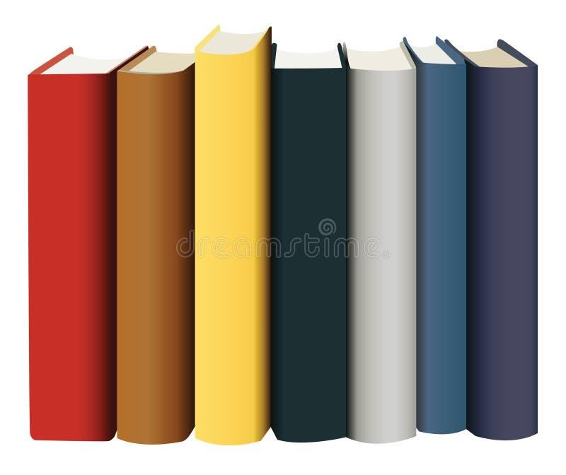 Libri in coperchi multicolori illustrazione vettoriale