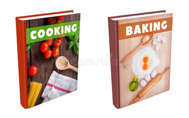 Libri - cucinando e cocendo illustrazione di stock