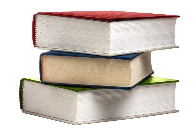 Libri del libro della pila colorati isolati fotografia stock libera da diritti