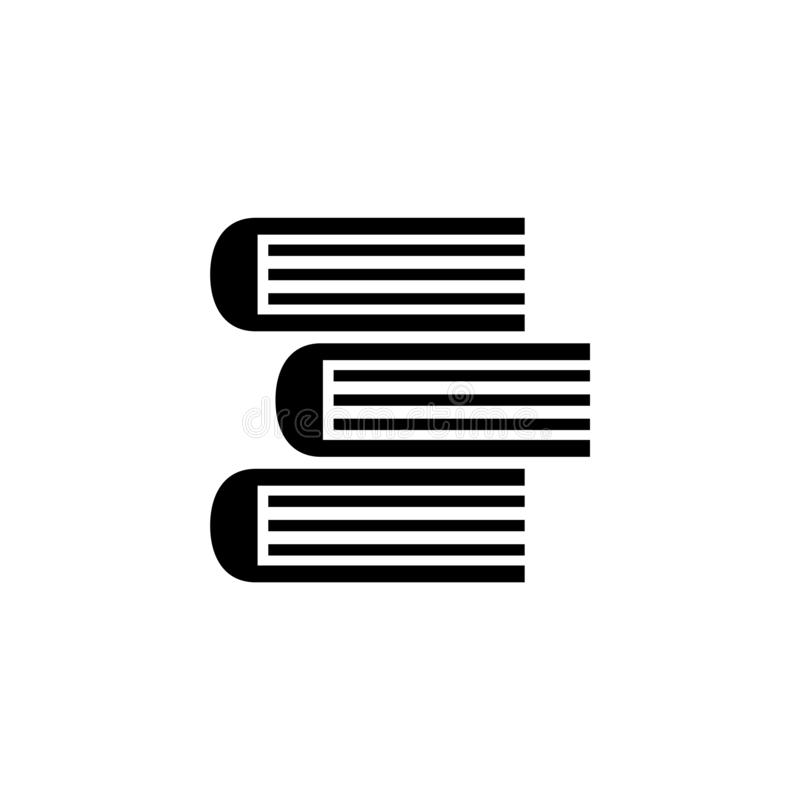 Libri della pila, icona piana di vettore del manuale del mucchio illustrazione vettoriale