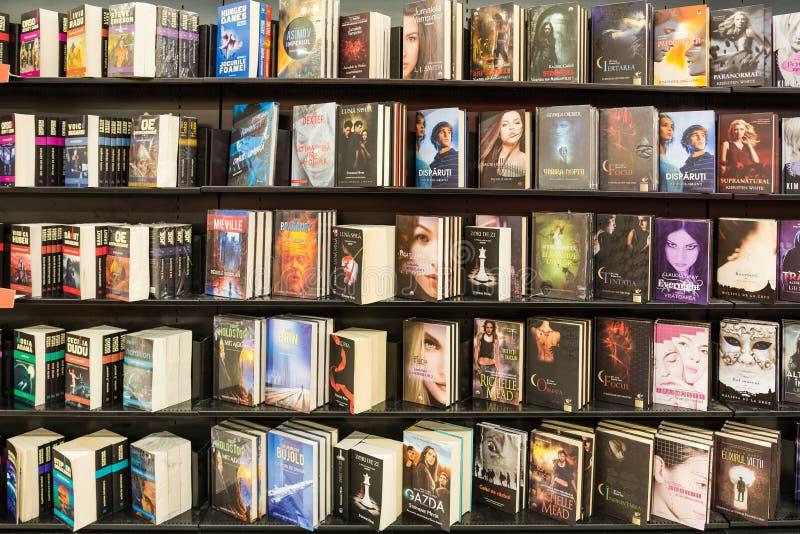 Libri delle fantascienza in biblioteca fotografia stock