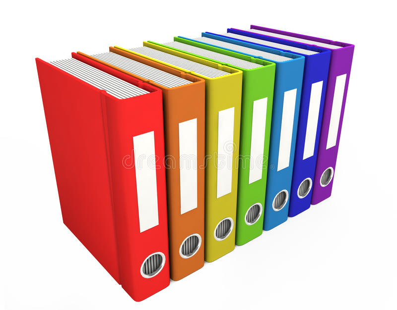 libri di affari di colore 3d illustrazione vettoriale