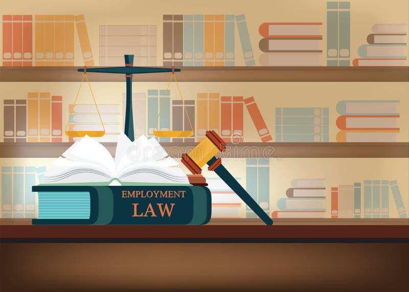 Libri di legge di occupazione su royalty illustrazione gratis
