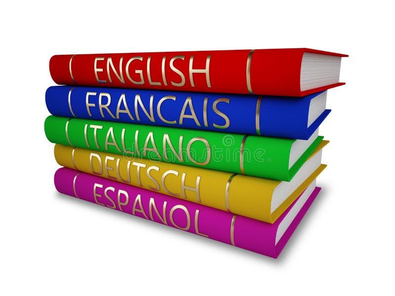 Libri di lingua illustrazione di stock