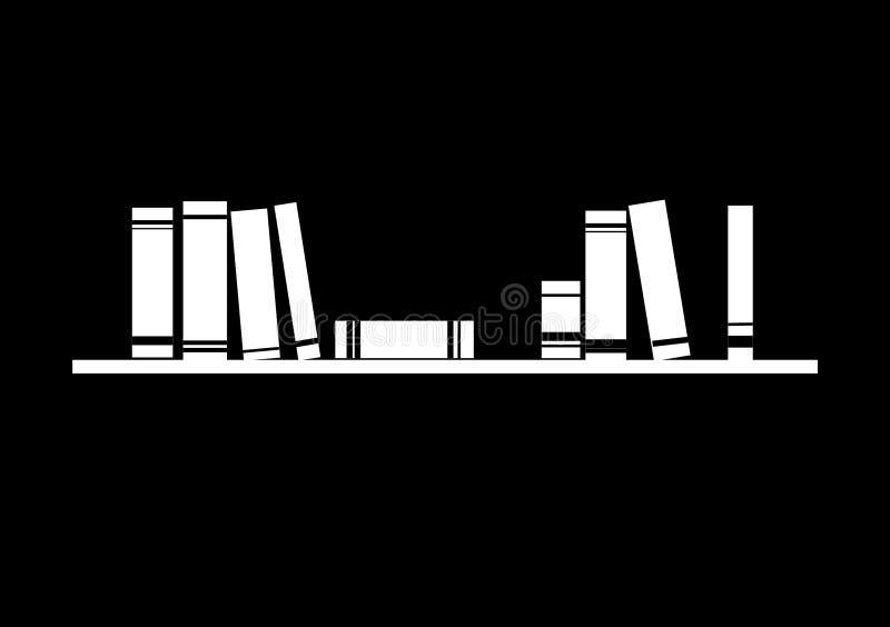 Libri di spazio negativi sul vettore dello scaffale illustrazione vettoriale