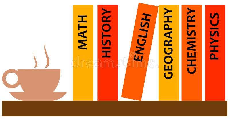 Libri di studio illustrazione vettoriale