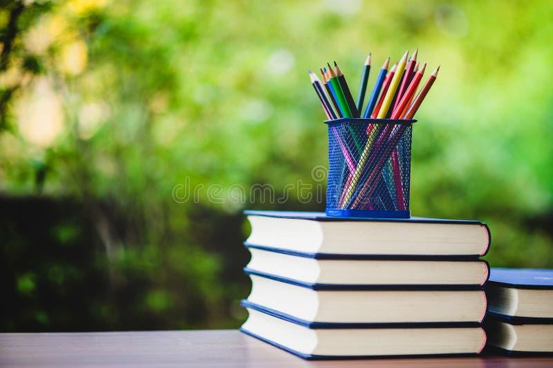 Libri di studio e materiali di apprendimento fotografia stock libera da diritti