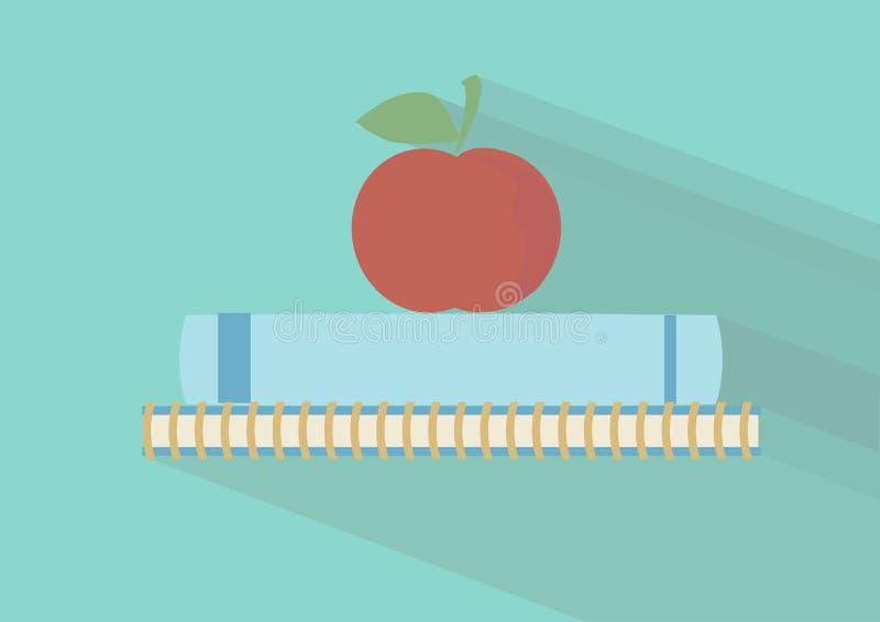 Libri e Apple royalty illustrazione gratis