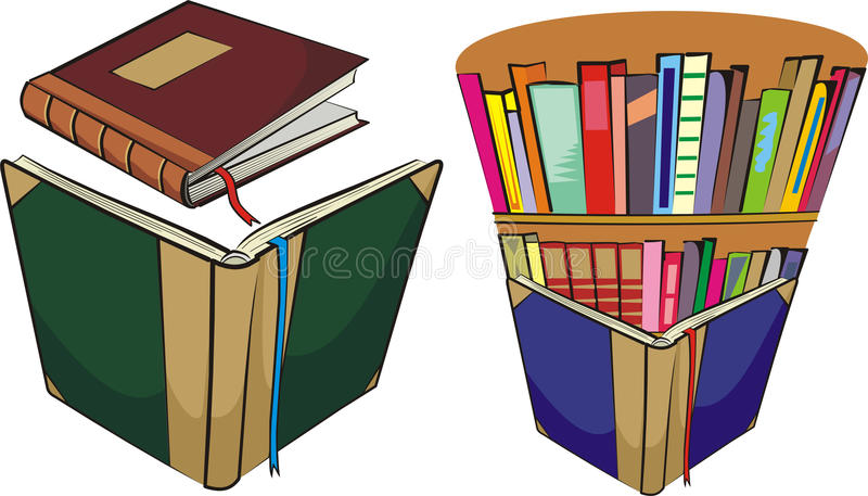 Libri e libreria illustrazione di stock