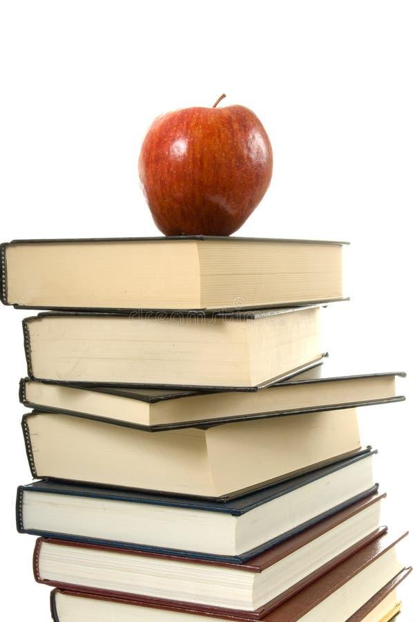 Libri ed Apple immagini stock libere da diritti