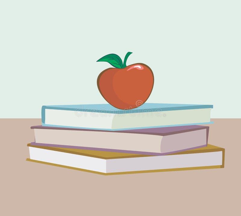 Libri ed Apple royalty illustrazione gratis