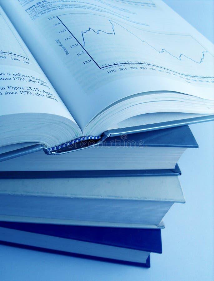 Libri finanziari fotografia stock