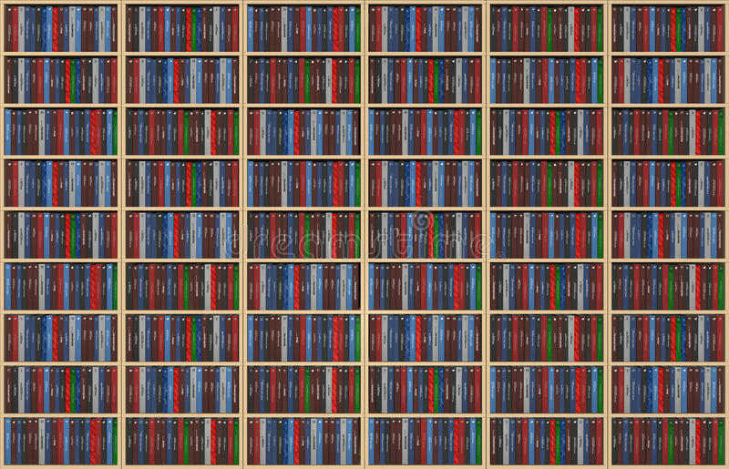 Libri infiniti sullo scaffale per libri royalty illustrazione gratis