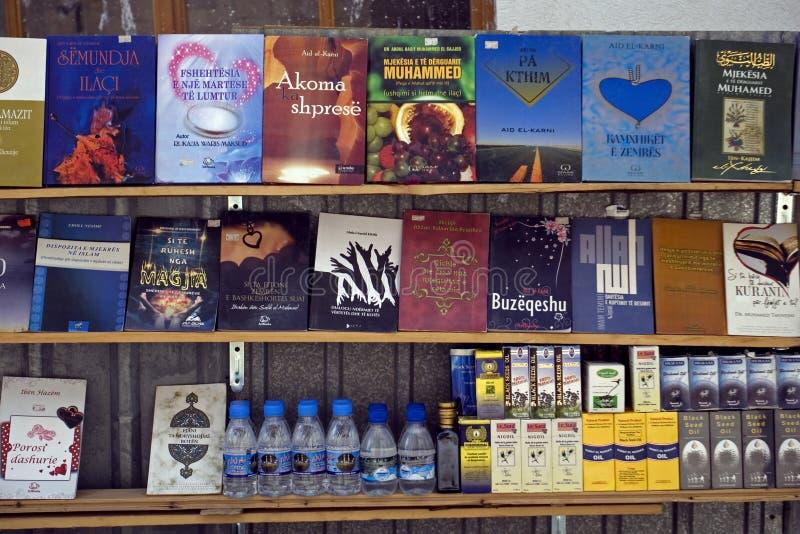 Libri islamici, Pristina, il Kosovo fotografie stock libere da diritti