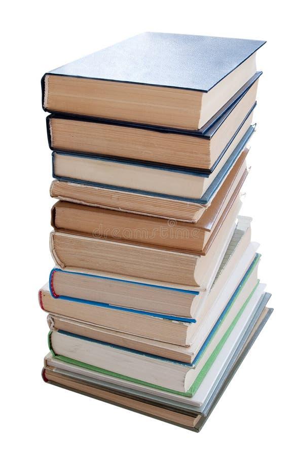 Libri isolati fotografia stock libera da diritti