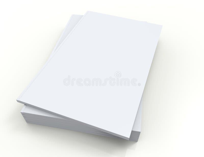 Libri isolati su bianco illustrazione di stock