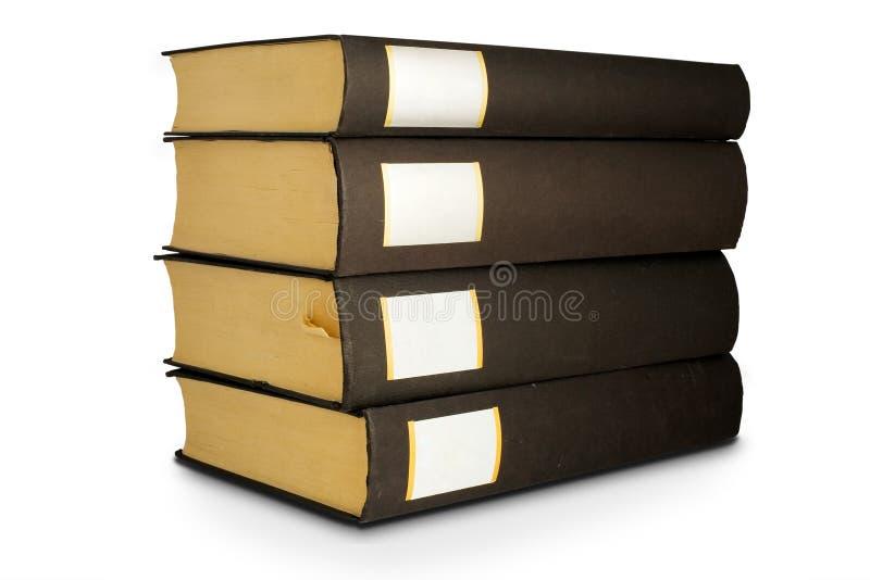 Libri isolati sui precedenti bianchi fotografie stock libere da diritti