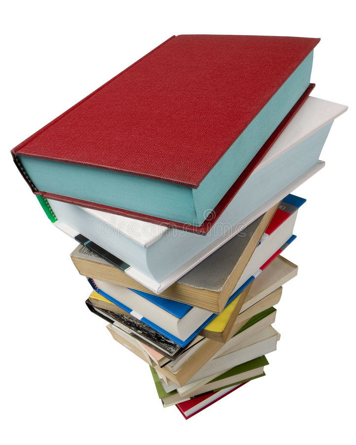 Libri su bianco immagine stock libera da diritti