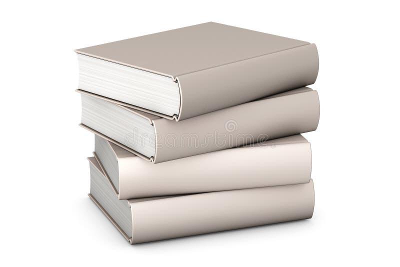 Libri su bianco illustrazione di stock