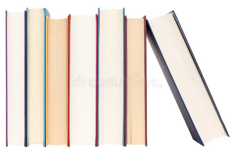 Libri in una riga fotografia stock