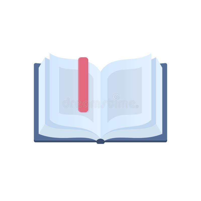 Libro abierto e interesante con una señal Educación, aprendiendo libre illustration