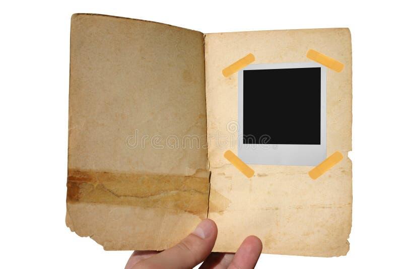 Libro abierto envejecido foto de archivo libre de regalías