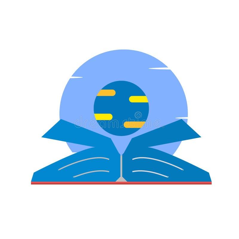 Libro abierto, lectura, educación, conocimiento abierto, planeta libre illustration